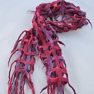 Sjaal van zacht vilt